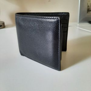 Coach Leather Bi-fold Wallet with Cards Insert